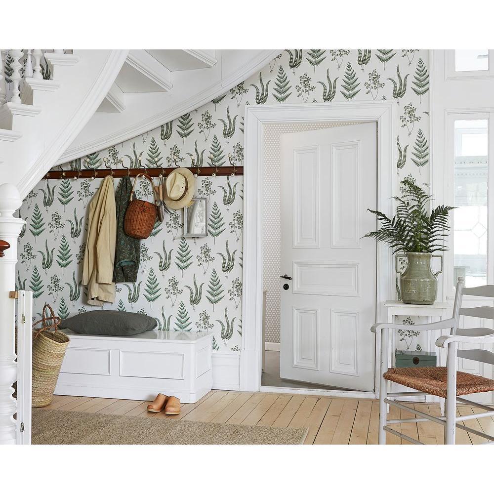 Ebele White Herbs Wallpaper Sample