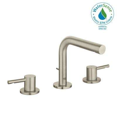 Essence New 8 in. Widespread 2-Handle 1.2 GPM Bathroom Faucet in Brushed Nickel InfinityFinish