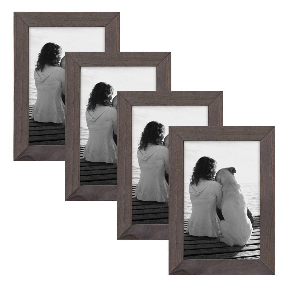 Gallery 4 in. x 6 in. Gray Picture Frame (Set of
