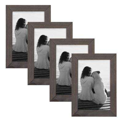 Gallery 4 in. x 6 in. Gray Picture Frame (Set of 4)