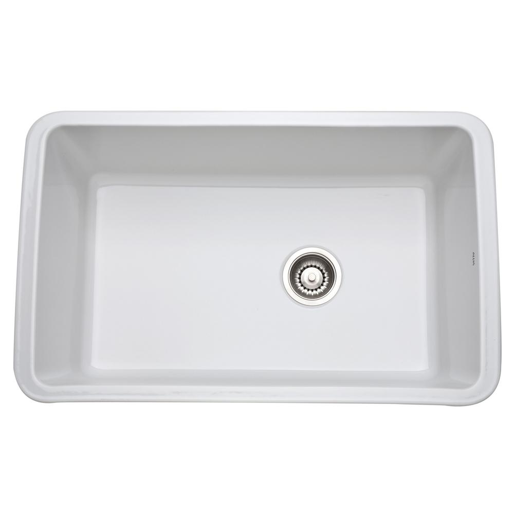 Rohl   Allia Undermount Fireclay Kitchen Sink
