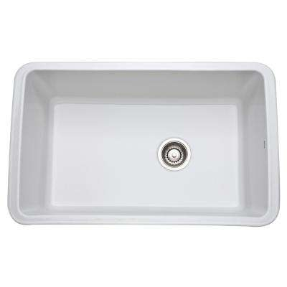 Allia Undermount Fireclay 31 in. Single Bowl Kitchen Sink in White
