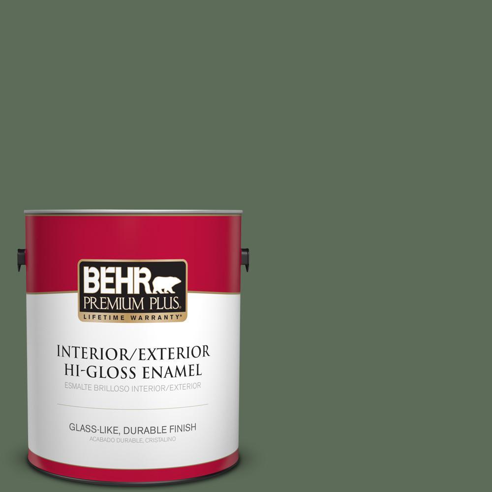 1 gal. #PPU11-01 Royal Orchard Hi-Gloss Enamel Interior/Exterior Paint