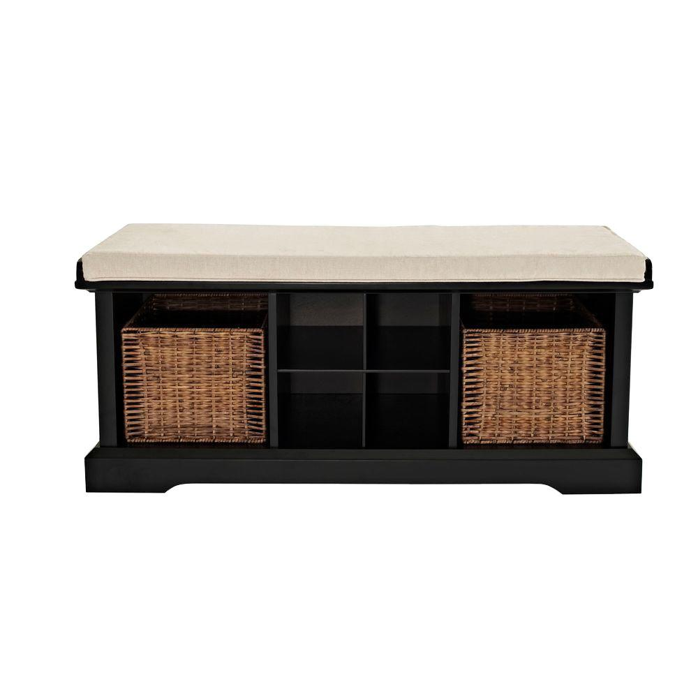 Crosley Brennan Entryway Storage Bench In Black Cf6003 Bk