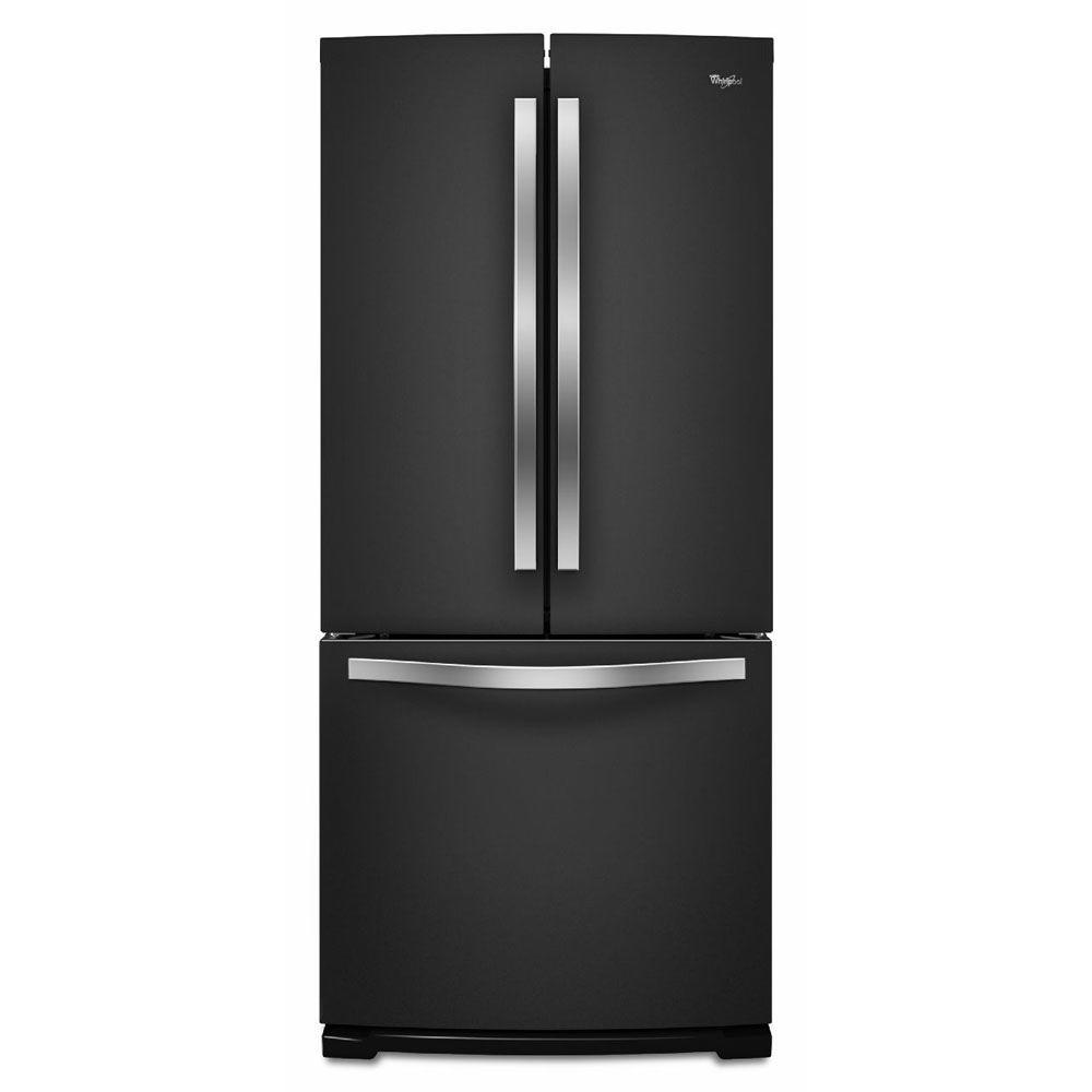 Kitchenaid 30 19 7 Cu Ft French Door Refrigerator With: Whirlpool 30 In. W 19.7 Cu. Ft. French Door Refrigerator In Black Ice-WRF560SMYE