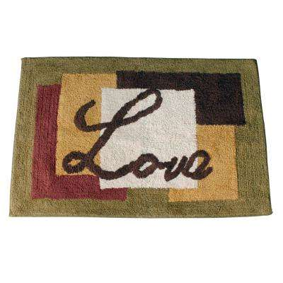 Inspire 31 in. x 21 in. Cotton Bath Rug