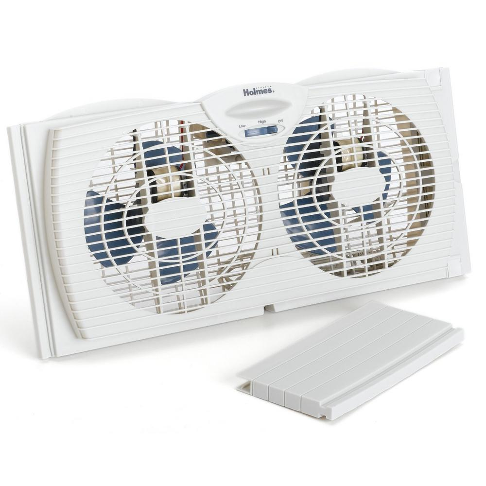 Holmes 7 In Twin Window Fan Hawf2021 The Home Depot