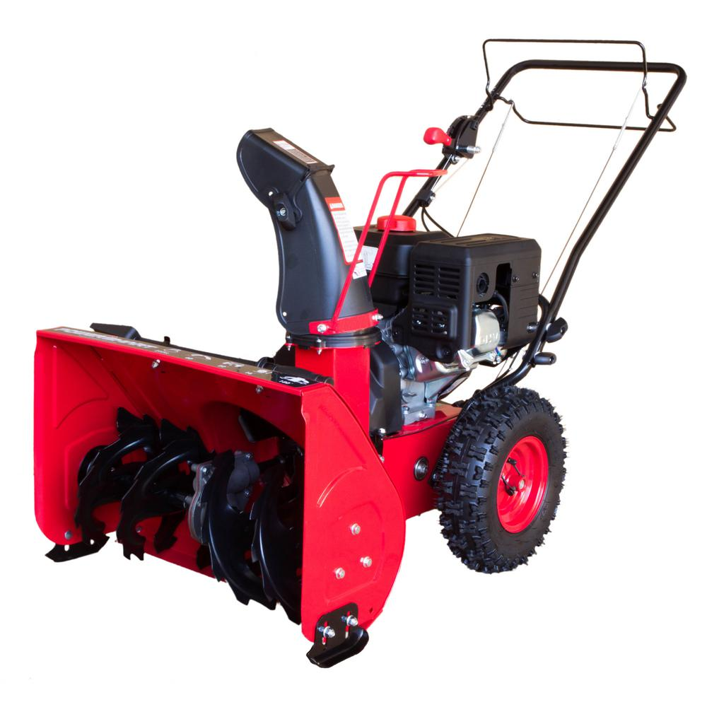 Gas Powered Snow Blowers : Powersmart in stage electric start gas snow blower