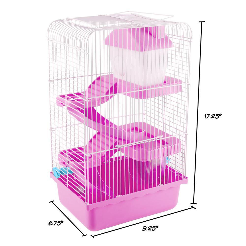 Petmaker Pink Hamster Cage Habitat Hw3210007 The Home Depot