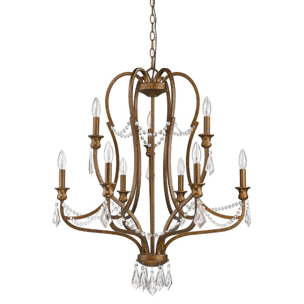 Acclaim Lighting Gianna 9-Light Indoor Chandelier with Crystal in Russet