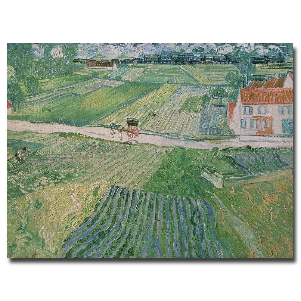 24 in. x 32 in. Auvers after the Rain, 1890 Canvas