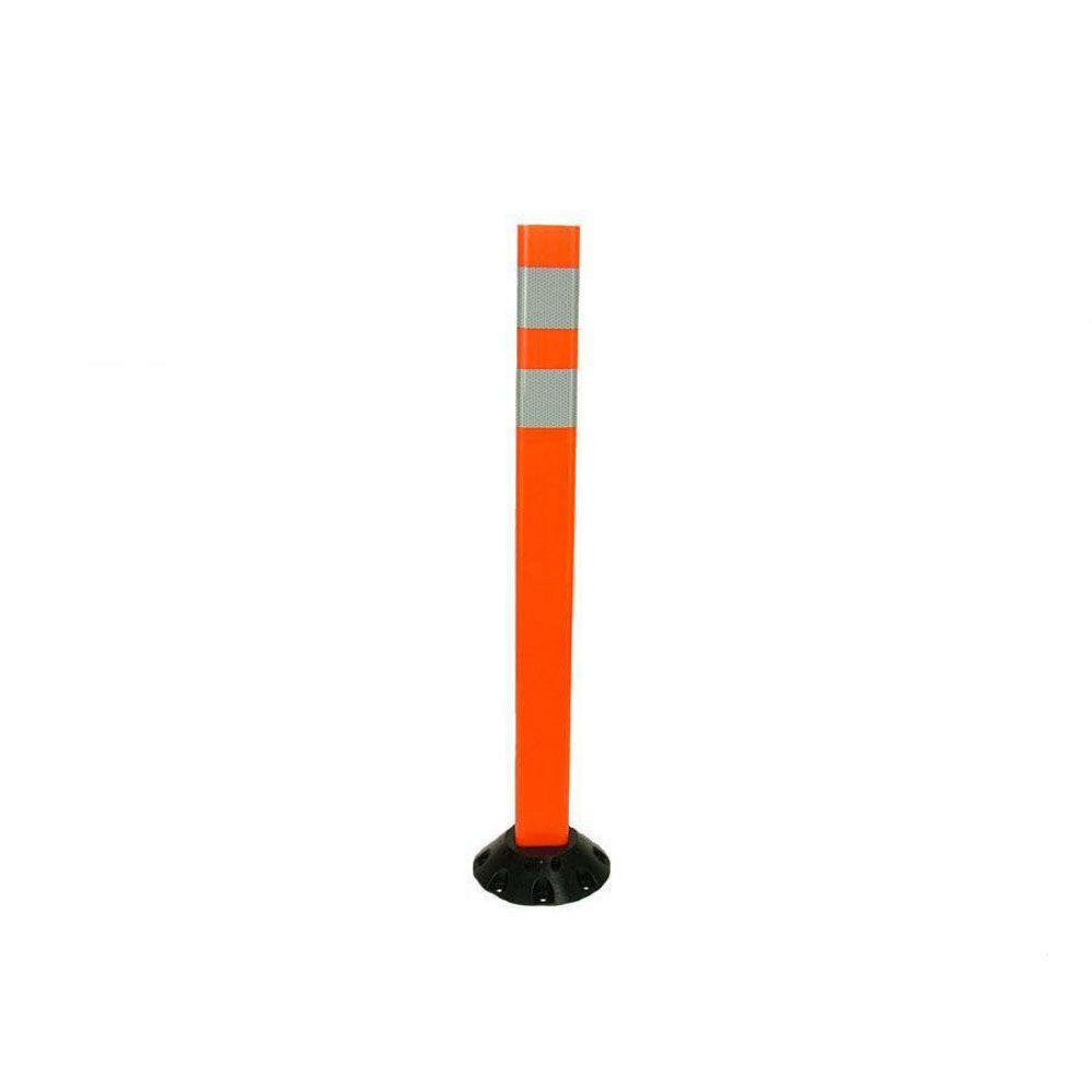 36 in. Repo Delineator Post Workzone Orange Delineator Post and Base