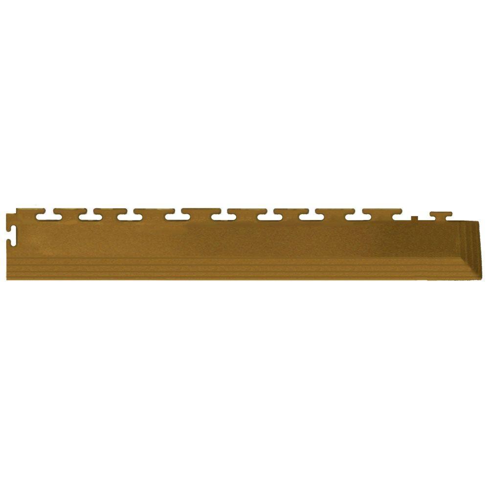 IT-tile Coin 2-1/2 in. x 23 in. Beige Vinyl Tapered Interlocking Flooring Corners (7 sq. ft./case)