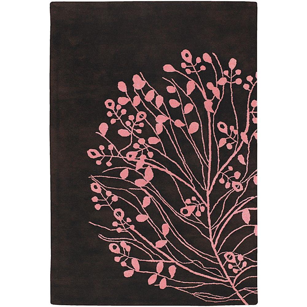 Chandra Dharma Brown/Pink 7 ft. 9 in. x 10 ft. 6 in. Indoor Area Rug