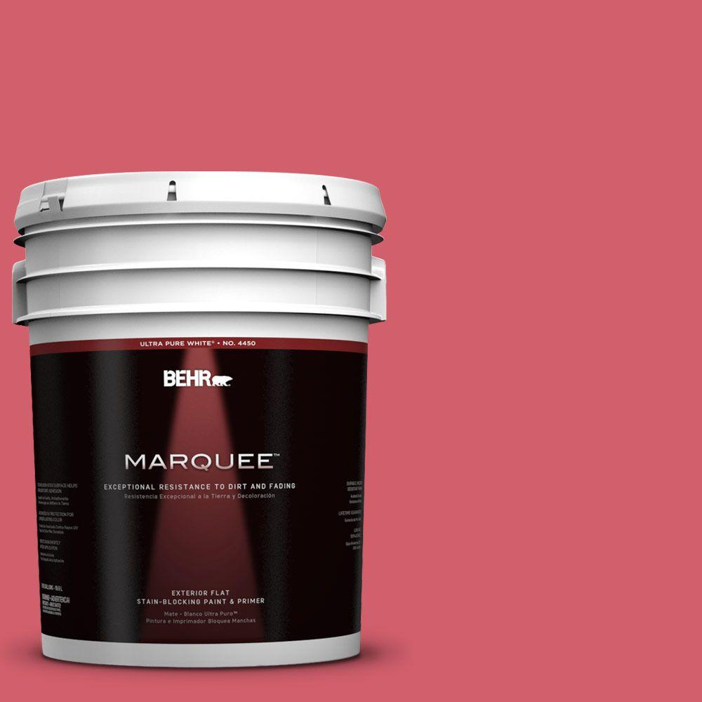 BEHR MARQUEE 5-gal. #140B-6 Italiano Rose Flat Exterior Paint