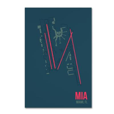 """22 in. x 32 in. """"MIA Airport Layout"""" by 08 Left Canvas Wall Art"""