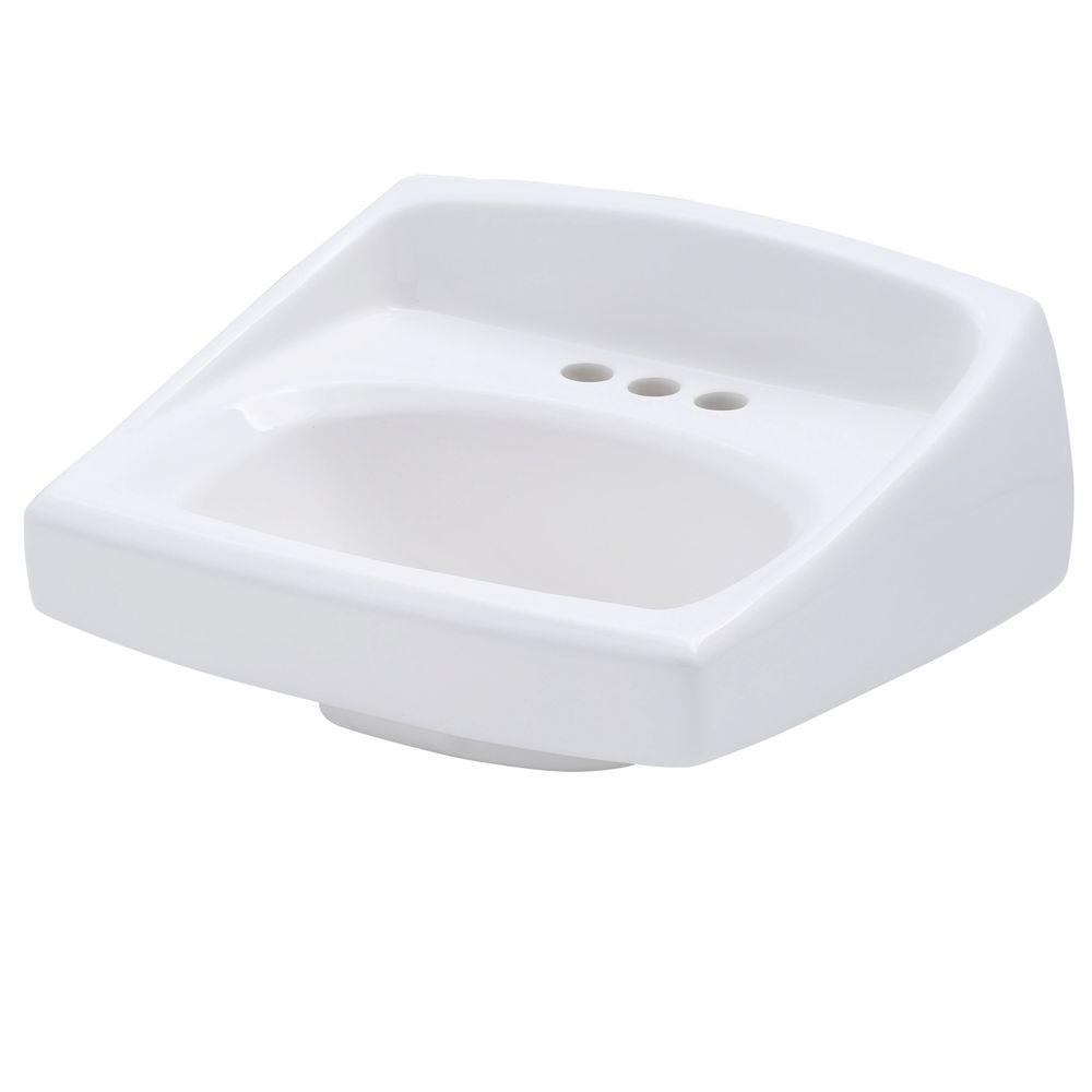 American Standard Lucerne Wall-Mounted Bathroom Sink in White ...
