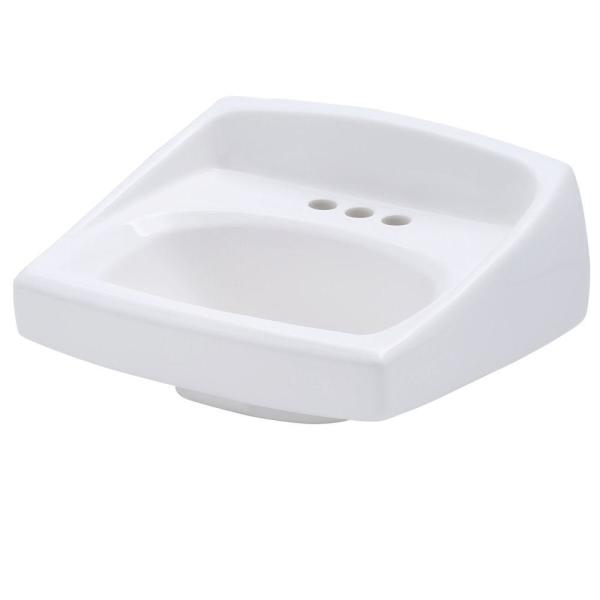 Lucerne Wall-Mounted Bathroom Sink in White