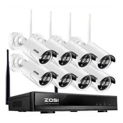 8-Channel 960p NVR Security Camera System with 8 Wireless Bullet Cameras