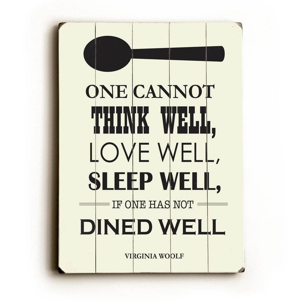 "12 in. x 16 in. ""Dine Well"" by Amanda Catherine ""Planked ..."