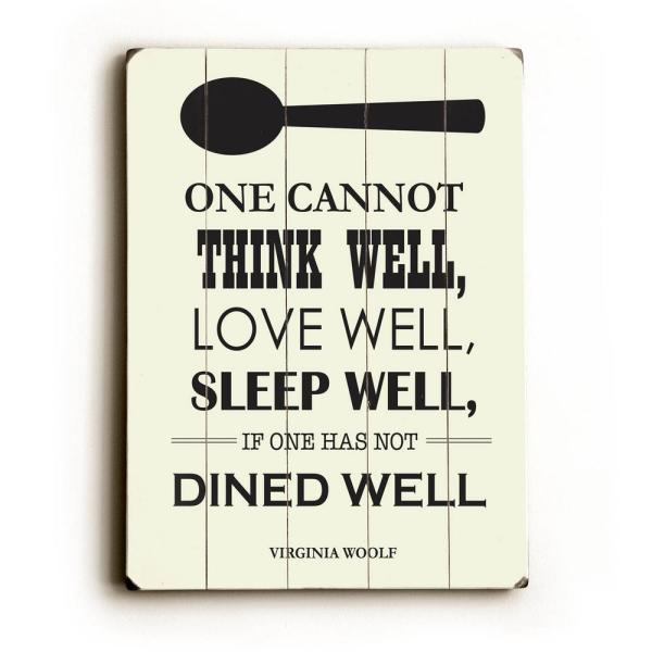 ArteHouse 12 in. x 16 in. ''Dine Well'' by Amanda Catherine