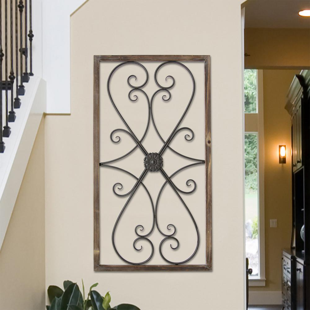 Metal Gate Wall Art Stratton Home Decor Metal Gate Panel Wall Decors07732  The Home