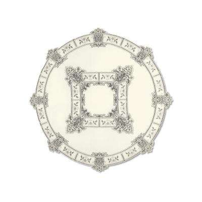 Heirloom Round ECRU Polyester Tablecloth