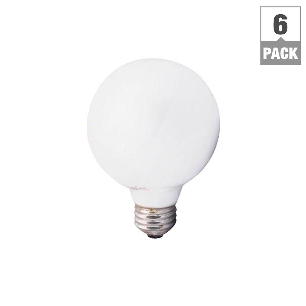 Sylvania 40 watt incandescent g25 soft white globe light bulb 6 pack 14190 0 the home depot Sylvania bulbs