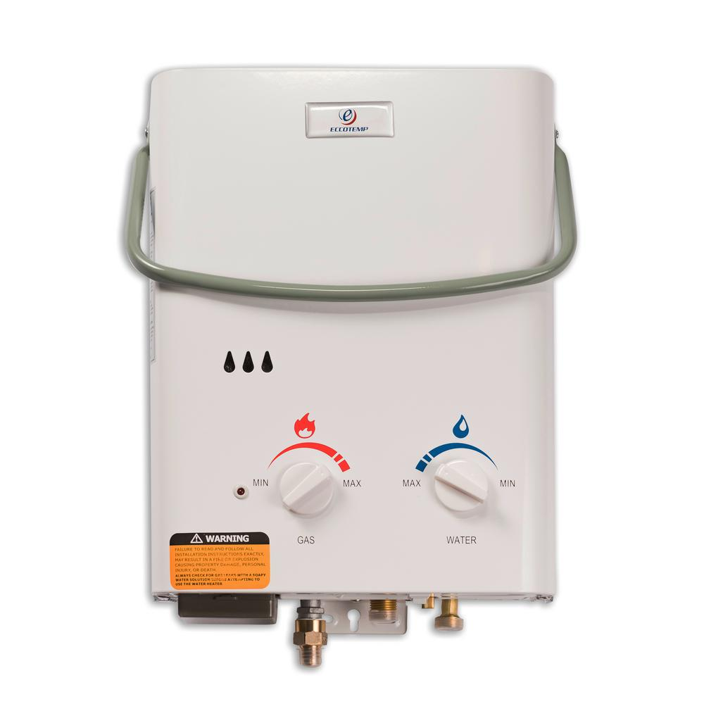 Eccotemp Eccotemp L5 1.5 GPM Portable 37,500 BTU Liquid Propane Outdoor Tankless Water Heater