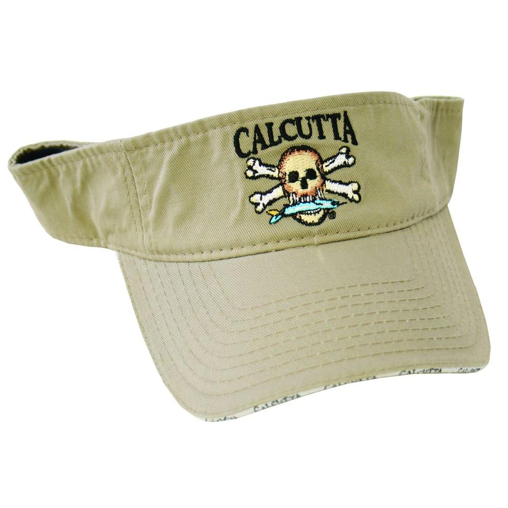 Adjustable Strap Low Profile Visor in Khaki with Fade-Resistant Logo