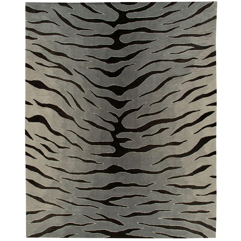 Nourison Contour Black/Grey 8 ft. x 10 ft. 6 in. Area Rug