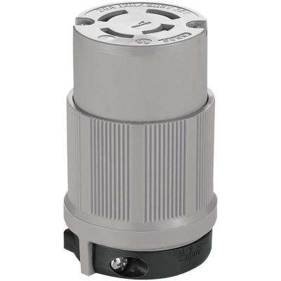 20 Amp 120/208-Volt Safety Grip Connector - Gray