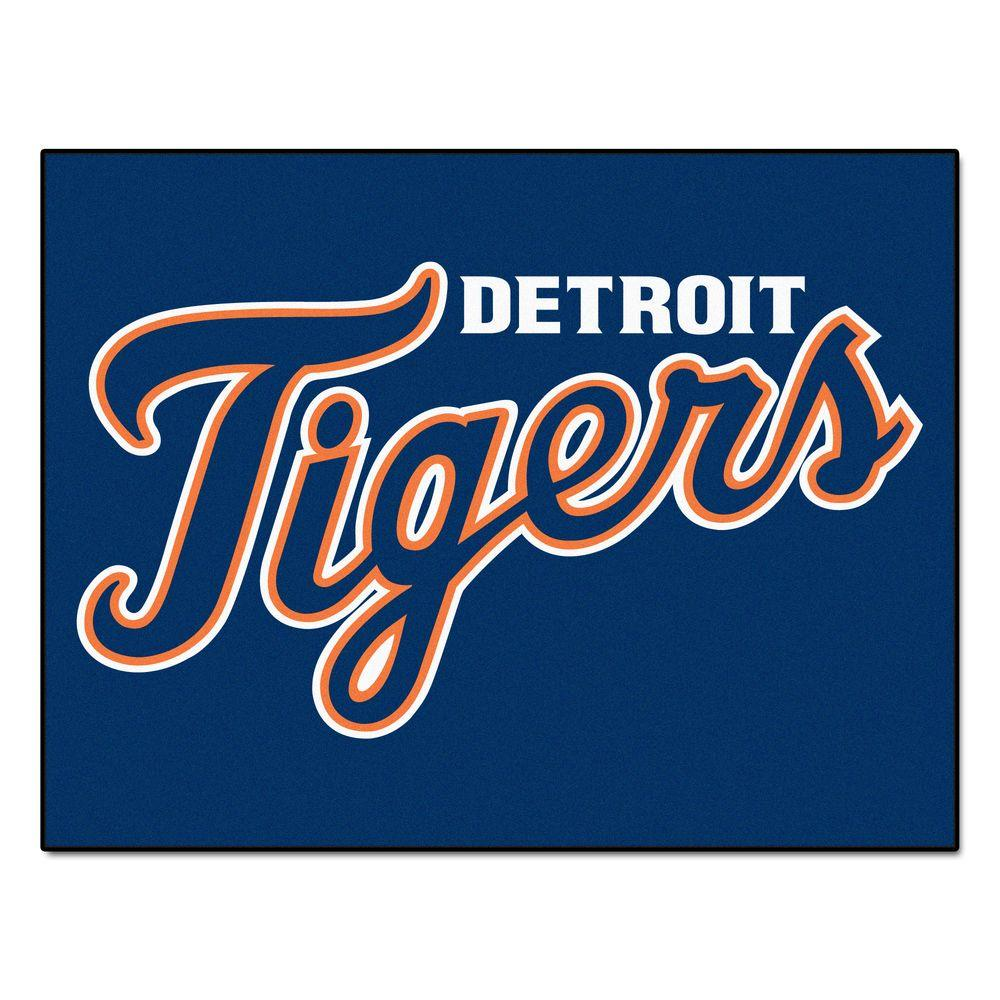 Fanmats Detroit Tigers 2 Ft 10 In X 3 Ft 9 In All Star Rug 6378 The Home Depot