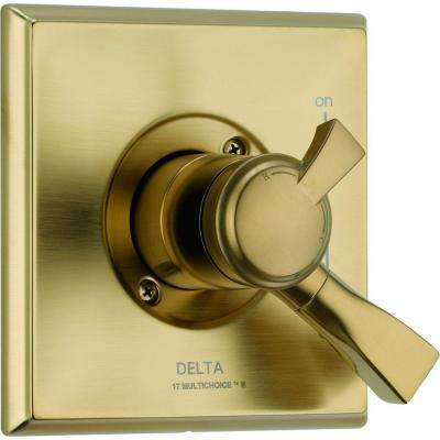 Dryden Monitor 17 Series 1-Handle Volume and Temperature Control Valve Trim Kit in Champagne Bronze (Valve Not Included)