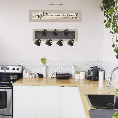 The Kitchen Vignette 2-Piece Vignette with 7-Peg Mug Rack Decorative Sign