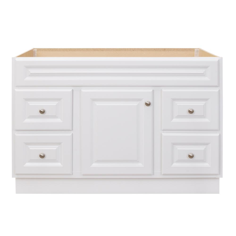 Glacier Bay Hampton 48 in. W x 21 in. D x 33.5 in. H Bathroom Vanity Cabinet Only in White