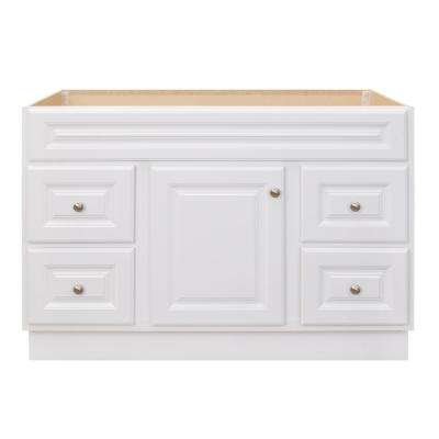 Hampton 48 in. W x 21 in. D x 33.5 in. H Bathroom Vanity Cabinet Only in White