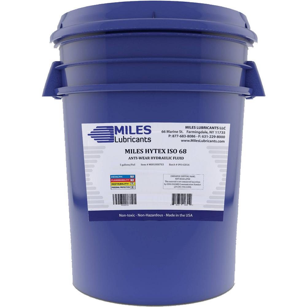 Miles Lubricants Hytex 5 Gal. ISO 68 Anti-Wear Hydraulic Fluid Pail