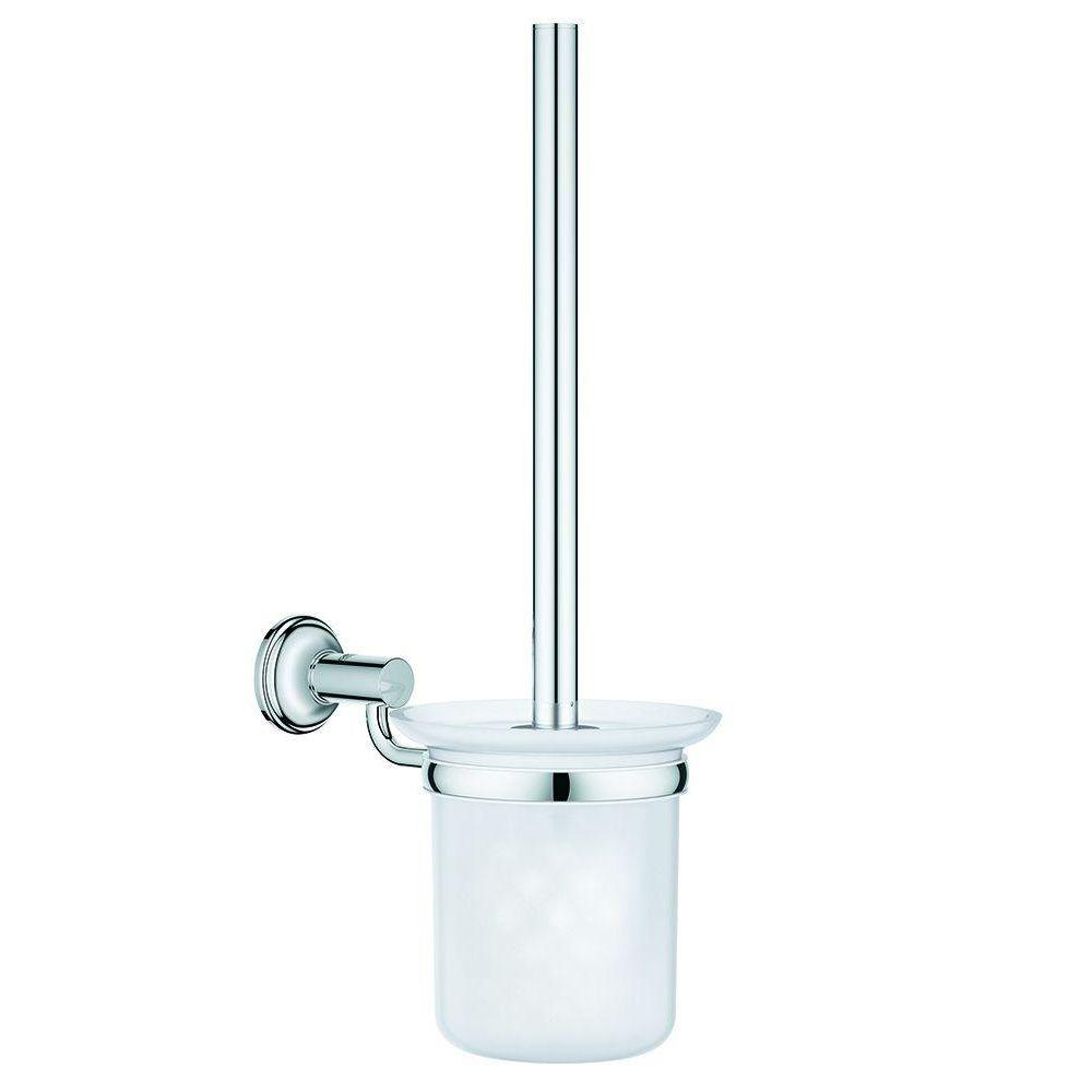 grohe essentials authentic toilet bowl brush set in