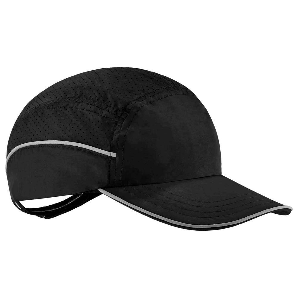 Skullerz 8955 Long Brim Black Lightweight Bump Cap Hat