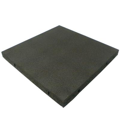 Eco-Safety 2.5 in. T x 1.62 ft. W x 1.62 ft. L - Coal Rubber Interlocking Flooring Tiles ( 2.77 sq. ft.)