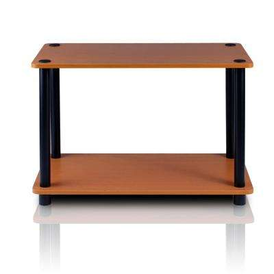 Turn-N-Tube Light Cherry End Table with Shelf (2-Pack)