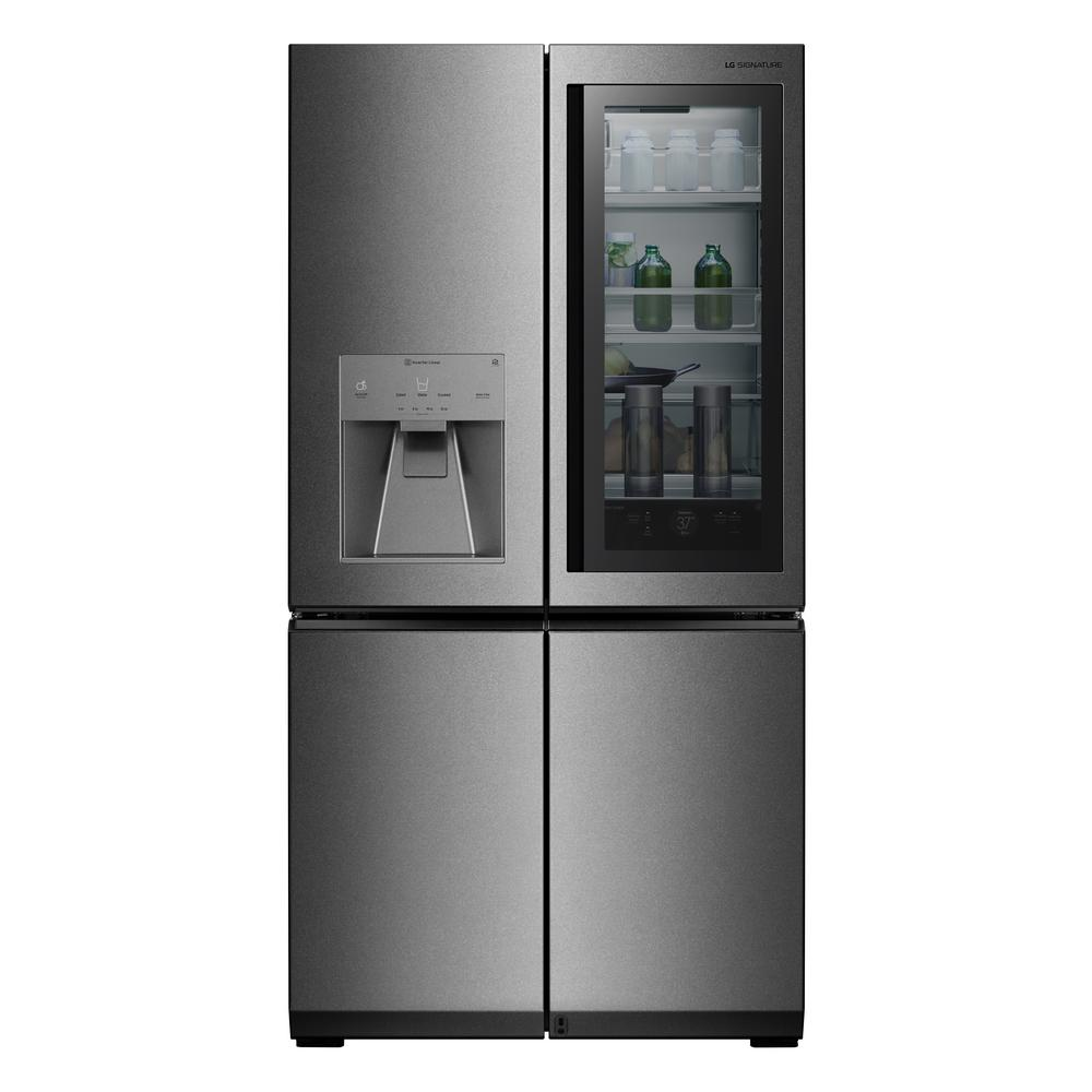 lg signature 30 8 cu ft french door refrigerator with instaview door in door in stainless. Black Bedroom Furniture Sets. Home Design Ideas