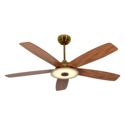 Striker 56 in. Integrated LED Indoor Gold Smart Ceiling Fan with Light Kit works with Google and Alexa