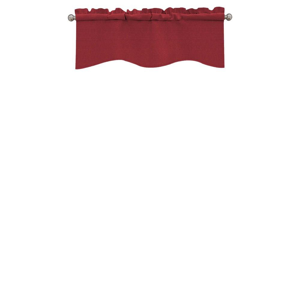 Eclipse Kendall Blackout Wave Window Valance in Chili - 42 in. W x 18 in. L
