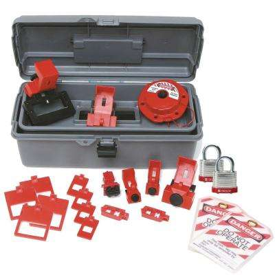 Breaker Lockout Toolbox Kit with Steel Padlocks and Tags