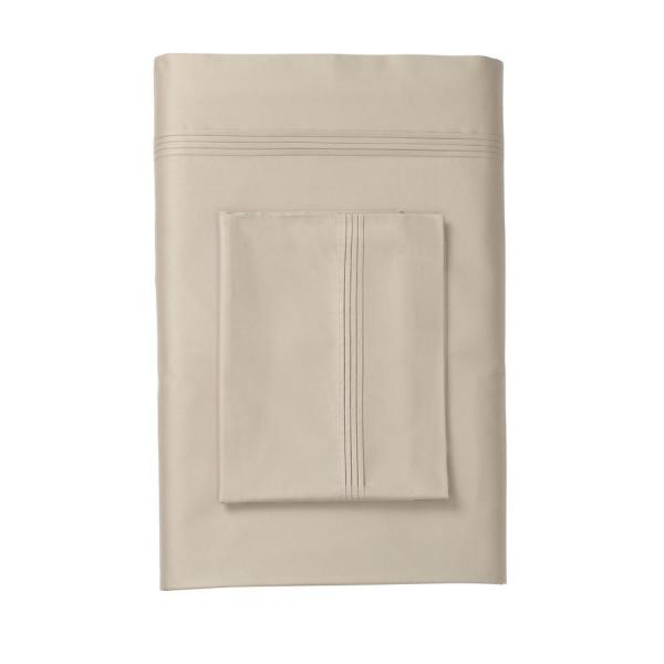 Legends Solid Sand 600 Thread Count Egyptian Cotton Sa King Flat Sheet