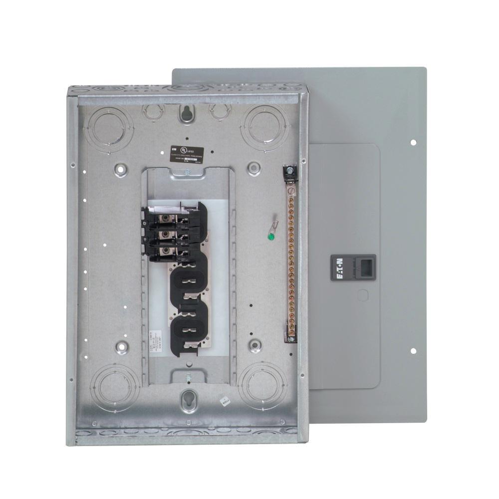 Eaton 125 Amp 12-Space 24-Circuit Type BR 3 Phase Main Lug Load ...