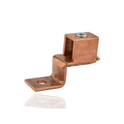 4/0-2 AWG Copper Solderless Lug, 5/16 in. Mounting Hole- 1 Count