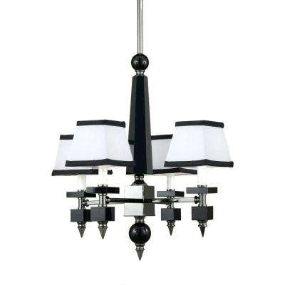 7474 4-Light Black Mini Chandelier